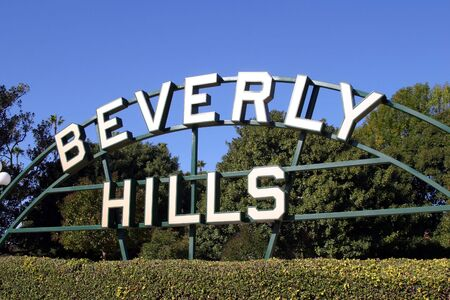 Beverly Hills sign in Los Angeles