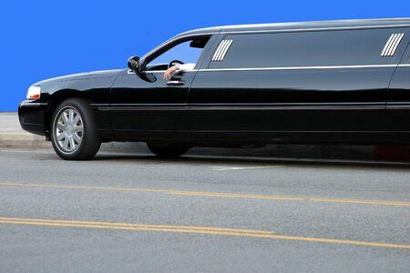 Limousine driver waiting