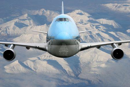 Airplane over Alaska