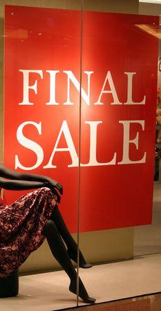 Final sale Stock Photo