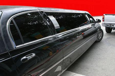 Black limousine Stock Photo - 2297786