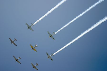 flyover: Fly-over by Squadron Stock Photo
