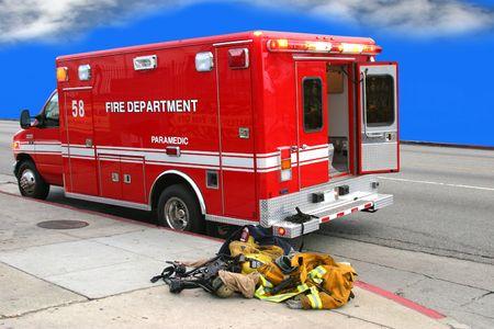 Fire department truck photo