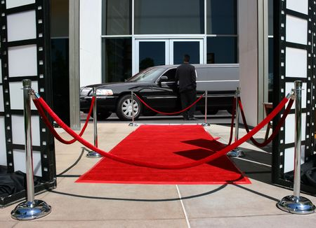 Red carpet and limousine  photo