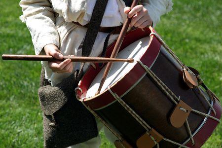 Battle of Lexington, Minutemen playing a dram