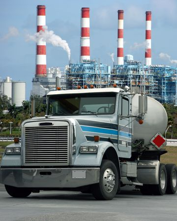 factory power generation: Heavy truck Stock Photo