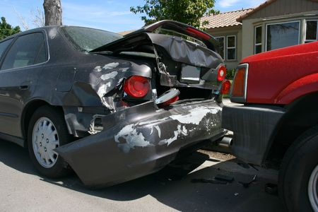 auto glass: Car accident on the street