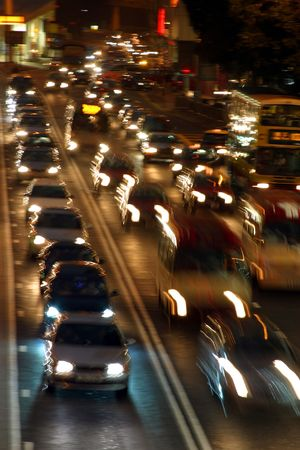 Traffic jam at night Stock Photo - 2816494