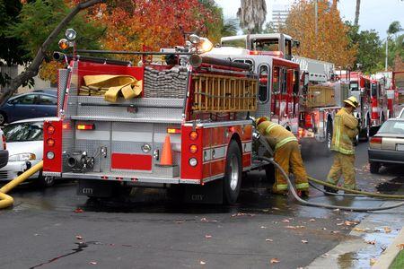 camion pompier: Service d'incendie de camion