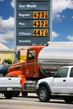 Gasoline prices in California Stock Photo