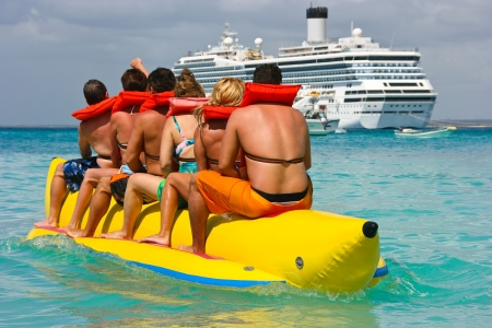 People having fun on Caribbean vacation Stock Photo - 9899634