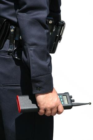 agent de sécurité: Agent de sécurité regarde la scène Banque d'images