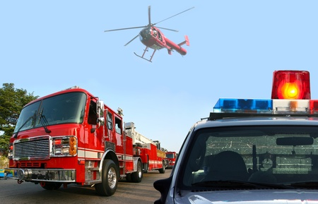 rescue helicopter: Fire department came on the scene