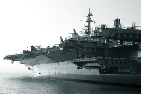 Aircraft carrier in the ocean Editorial