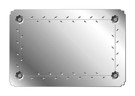 flower engraved metal plate Ilustração
