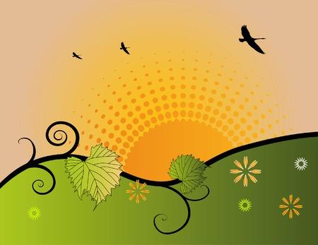 Morning halftone sunrise Banco de Imagens - 2623280