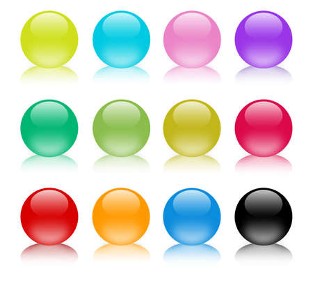 Colorful shiny glass marbles