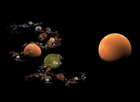 earth tone planets flame fractal Banco de Imagens - 2623290