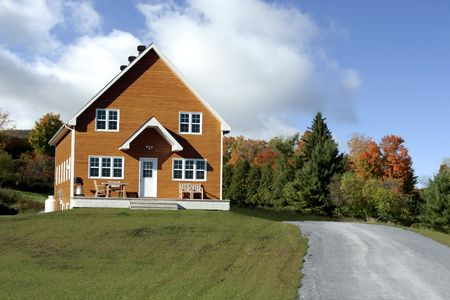 Country house in fall Banco de Imagens - 2623293