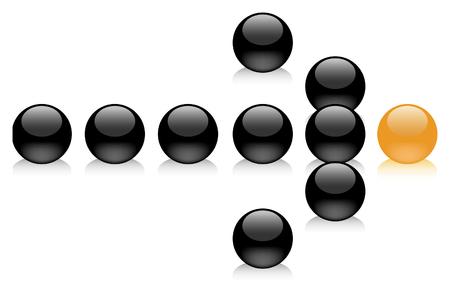 follow the leader: Team following the leader towards success Illustration