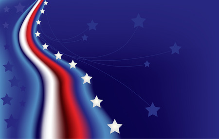 star-spangled background in blue, red and white Vector