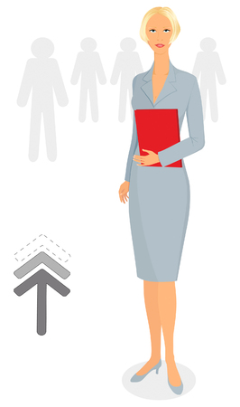 Casual and elegant businesswoman at the office Vector