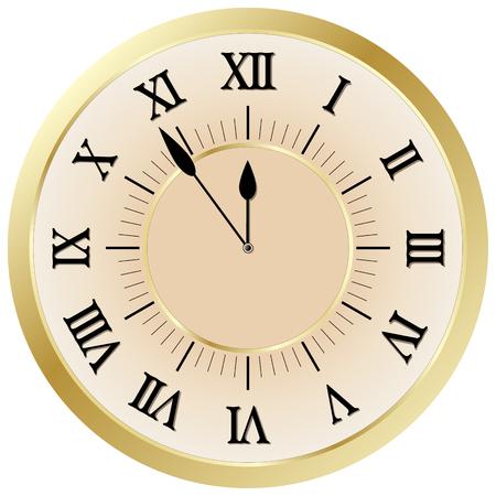 Clock face with roman figures Vector