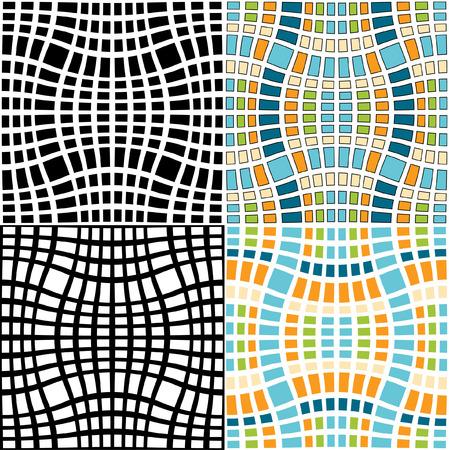 Woven seamless mosaic pattern