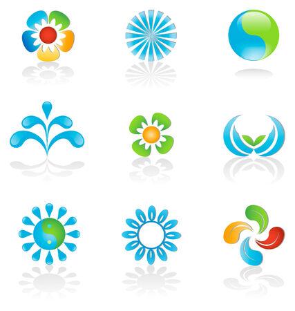 Environmental graphic design elements Stock Illustratie