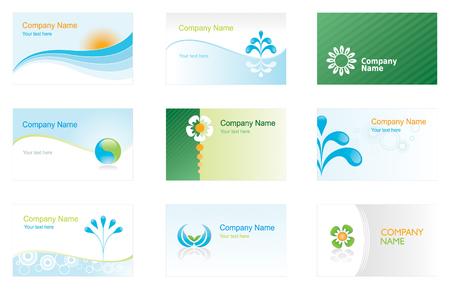 環境ビジネス カードや背景のセット  イラスト・ベクター素材