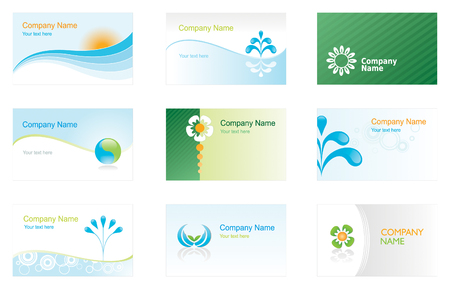 Set of environmental business cards or backgrounds Vector