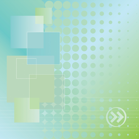 Abstract blue and green doted background Ilustração