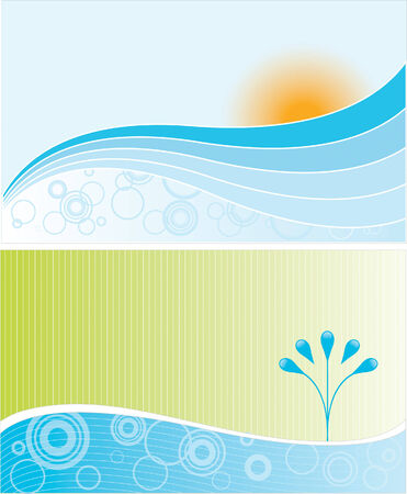 Two abstract environmental landscapes Vector