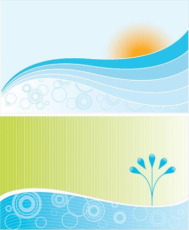 Two abstract environmental landscapes Banco de Imagens - 3799292