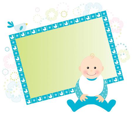 Baby boy-Karte mit Platz für Ihren Text Vektorgrafik