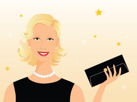 Smart attractive blond woman ready for her evening rendez-vous Banco de Imagens - 4147353