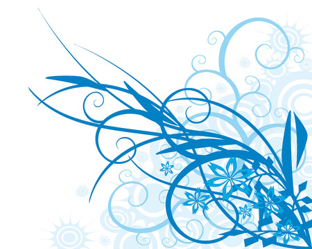 Floral background-blue ,vector Stock Vector - 6186732
