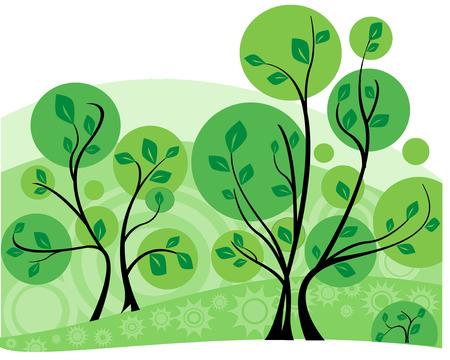 Green Tree background, Vector illustration Stock Vector - 6186730