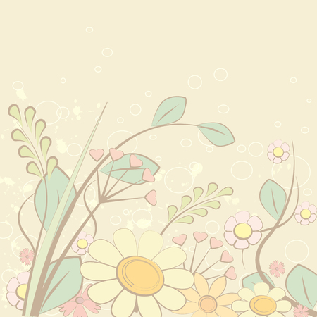bine: Abstract flower background, vector illustration