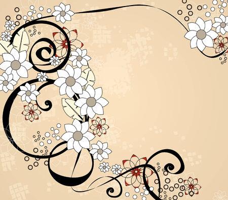old album: Floral ornament Illustration