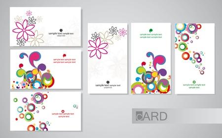 визитные карточки Иллюстрация