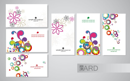 rainbow circle: business cards