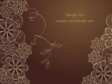 Красота цветочные иллюстрации