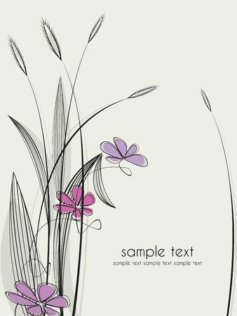 Цветочные фон Иллюстрация