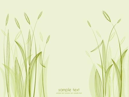 Зеленый фон с травой Иллюстрация