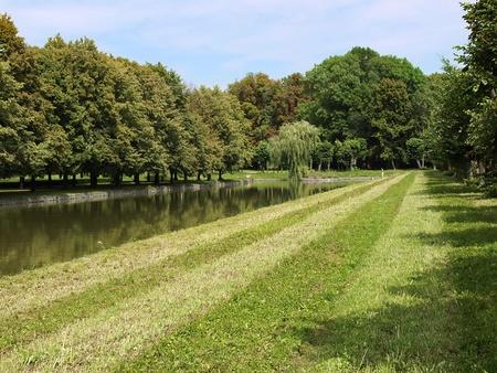 beautiful garden with an artificial lake Stock Photo - 10255571