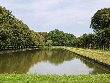 beautiful garden with an artificial lake 2 Stock Photo - 10255569
