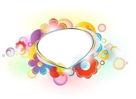 retro circles: colorful  background