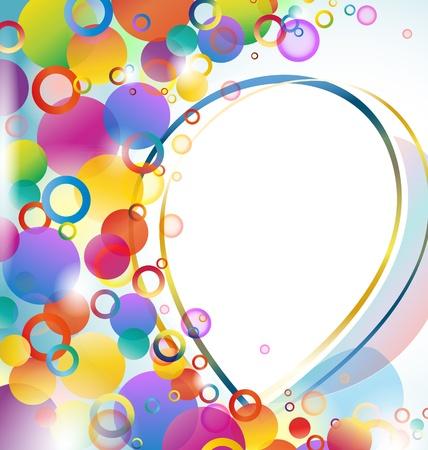 Arrière-plan coloré abstrait