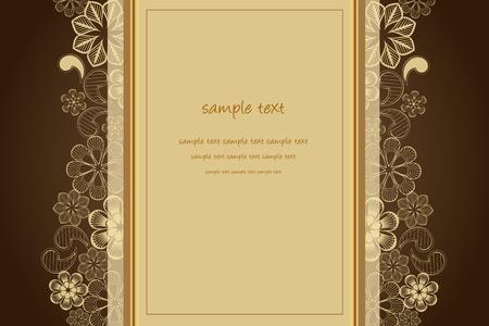 あなたのテキストのための場所での結婚式の背景  イラスト・ベクター素材